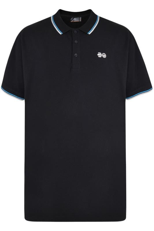 Plus Size Polo Shirts Crosshatch Black Tipped Polo Shirt