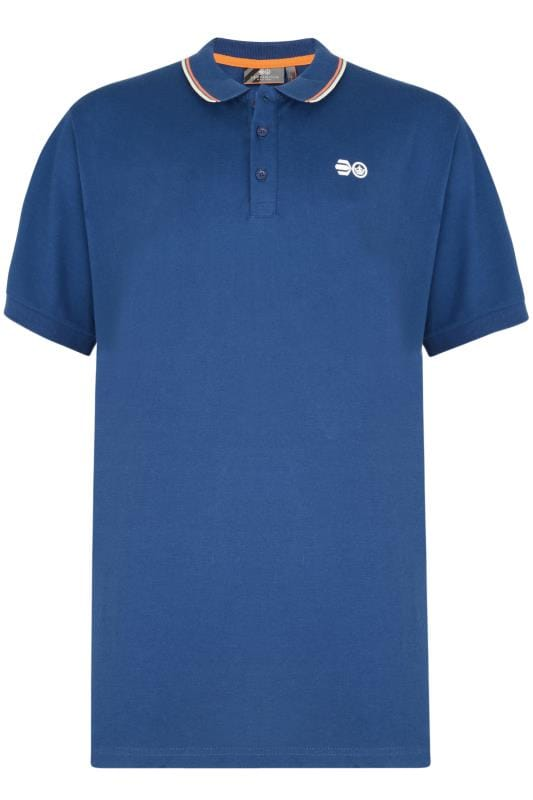 Polo Shirts Crosshatch Blue Tipped Polo Shirt 201570