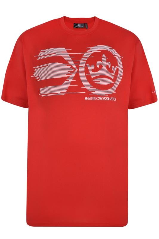 Crosshatch Red Graphic Print T-Shirt