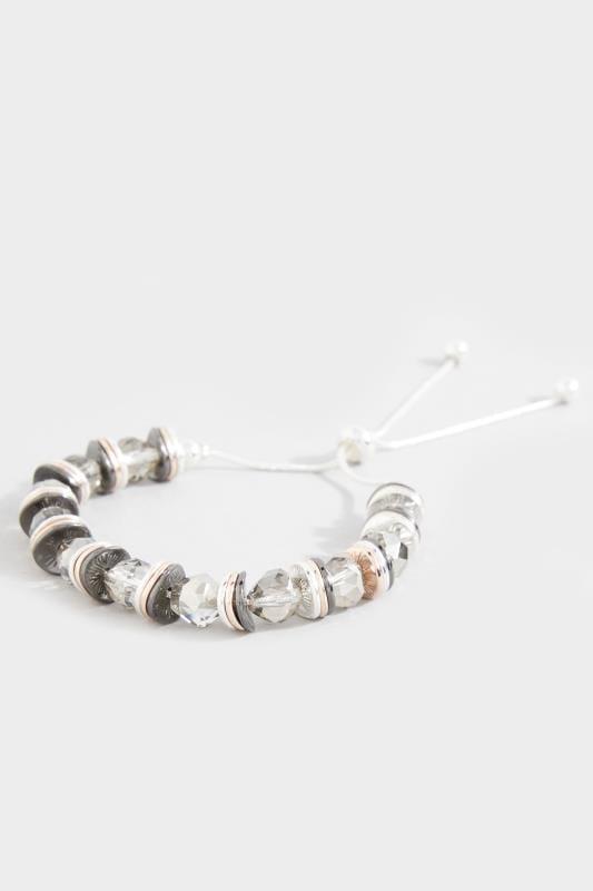 Silver Crystal Bead Bracelet