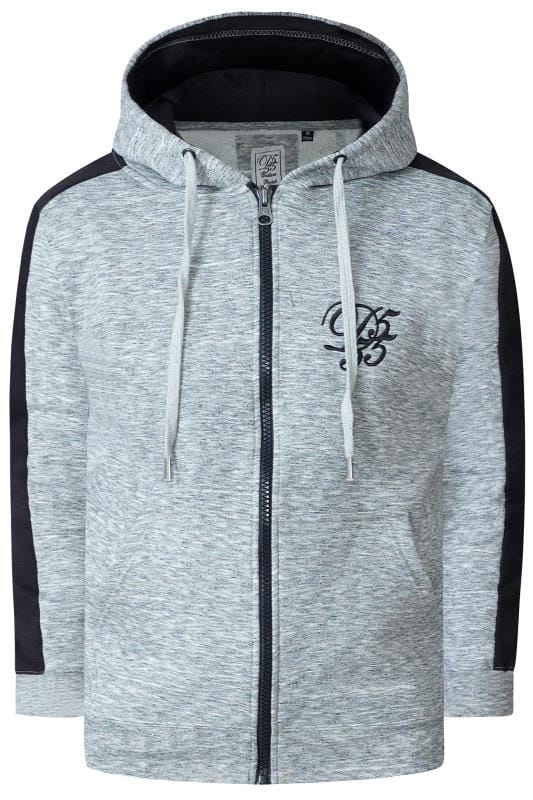 Plus Size Hoodies D555 Couture Grey Contrast Hoodie
