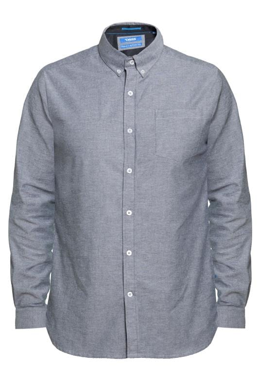 D555 Grey Button Down Stretch Shirt