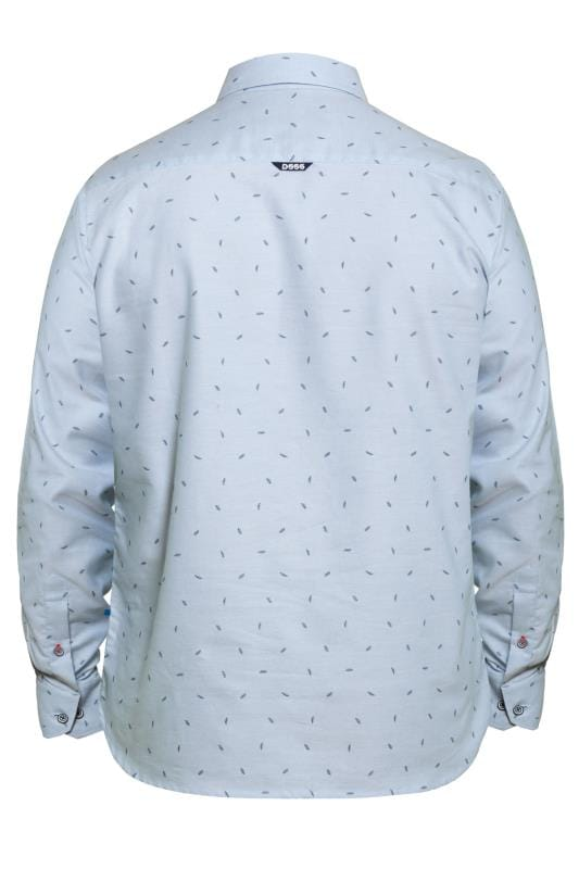D555 Light Blue Feather Print Shirt