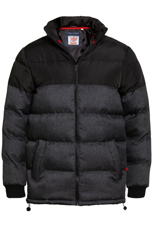 Jackets D555 Black Padded Jacket 201813