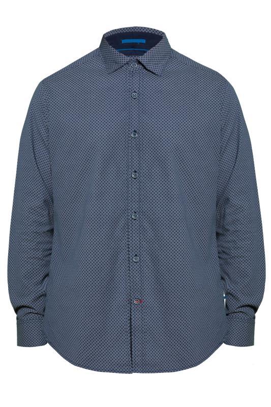 Smart Shirts D555 Navy Geometric Print Shirt 201749