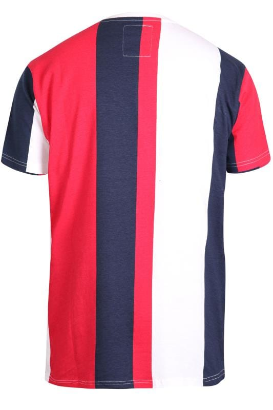 D555 Couture Red & Navy Stripe T-Shirt