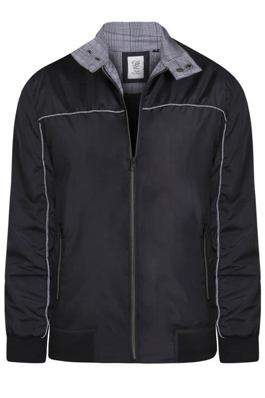 Men's Jackets D555 Black Harrington Jacket