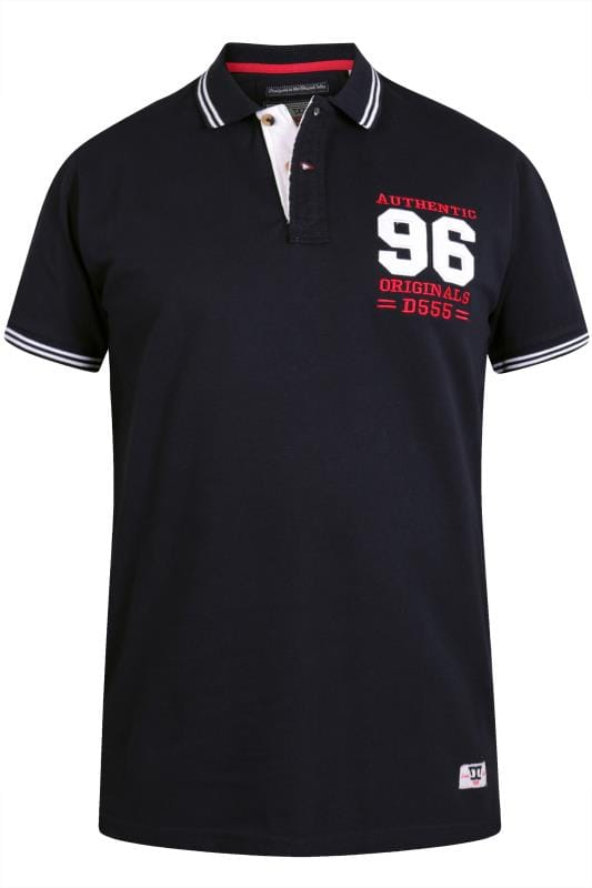 Polo Shirts D555 Dark Navy Polo Shirt 201864