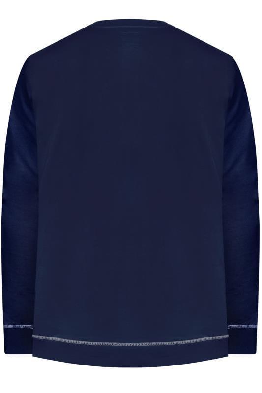 D555 Navy Christmas Slogan Sweatshirt