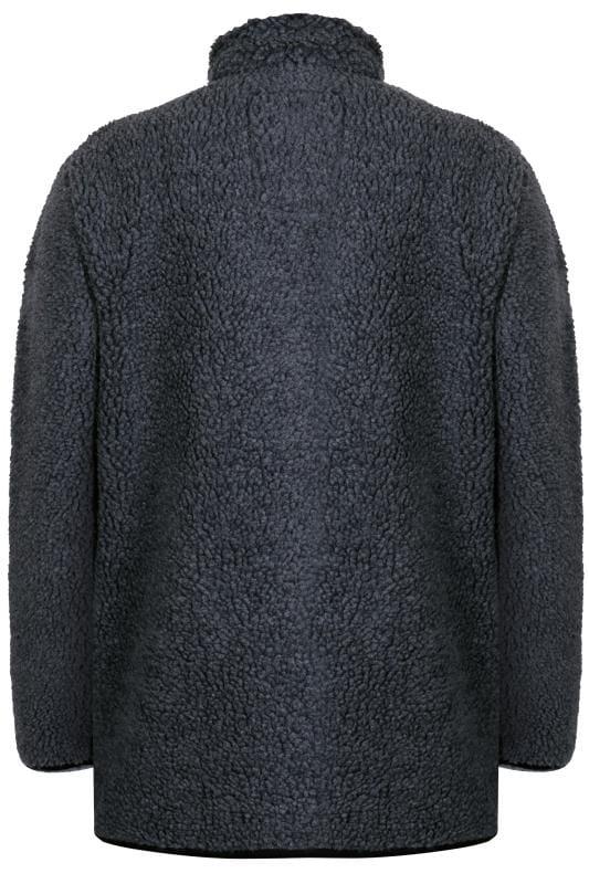 D555 Charcoal Grey Zip-Through Fleece