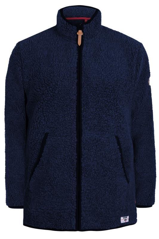 Большие размеры | Fleece D555 Navy Zip-Through Fleece