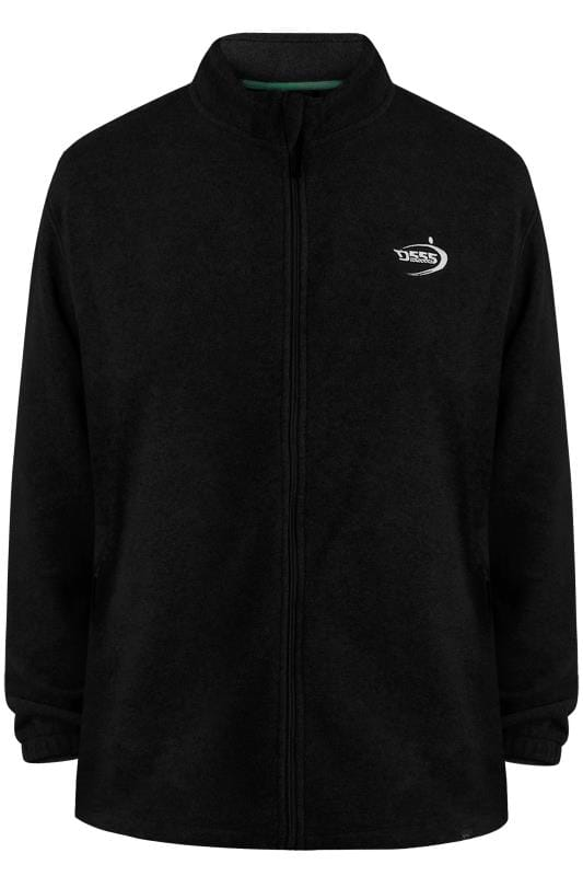 Plus Size Jackets D555 Black Full Zip Anti Pill Fleece