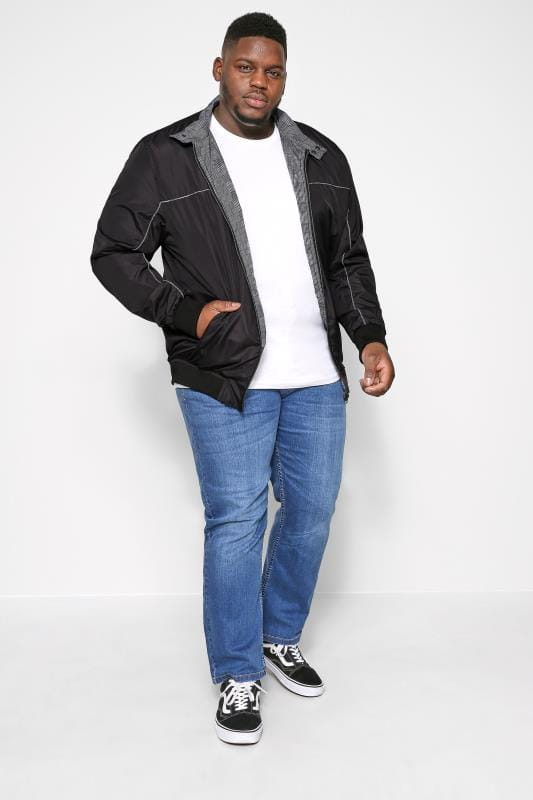 D555 Black Harrington Jacket