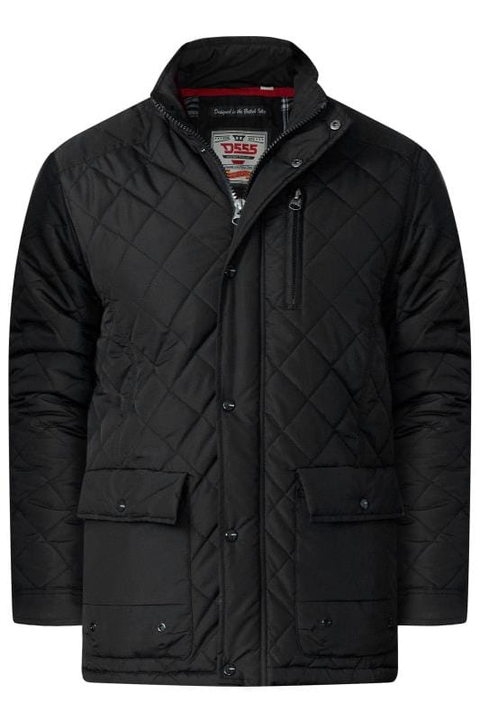 Plus Size Jackets D555 Black Quilted Jacket