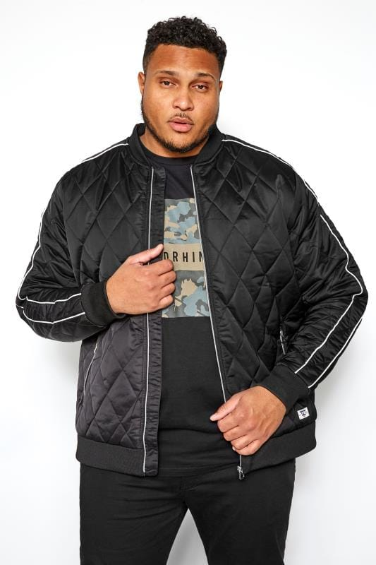Jackets D555 Black Tape Bomber Jacket 201818
