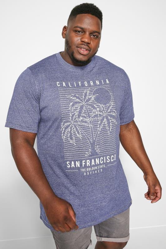 T-Shirts D555 Blue Marl 'San Francisco' T-Shirt 202531