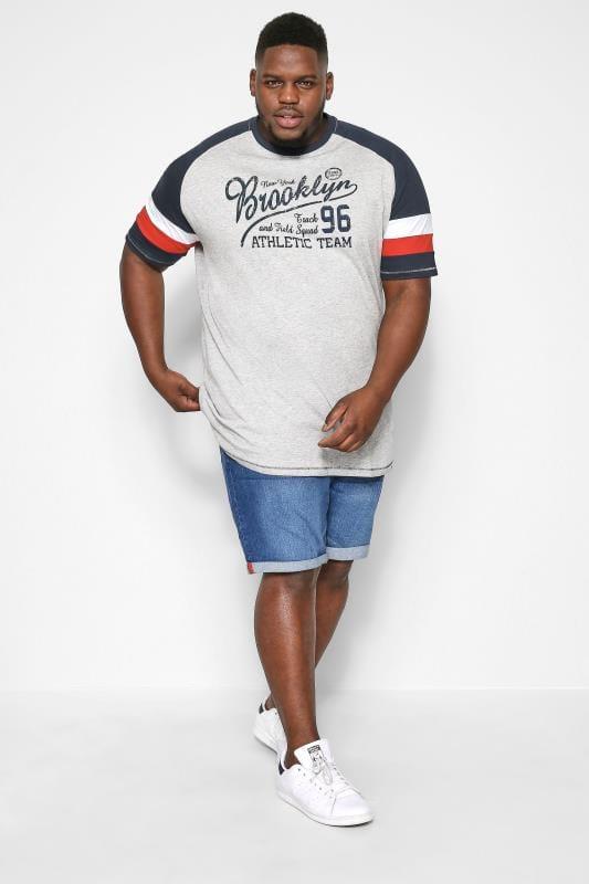 Plus Size Denim Shorts D555 Blue Stretch Denim Shorts