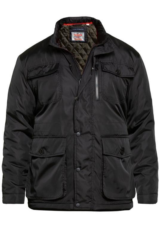 Plus Size Jackets D555 Black Five Pocket Coat