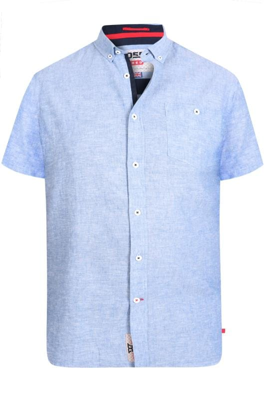 D555 Light Blue Linen Shirt