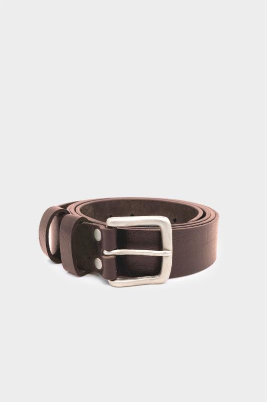Belts D555 Brown Leather Belt 201811