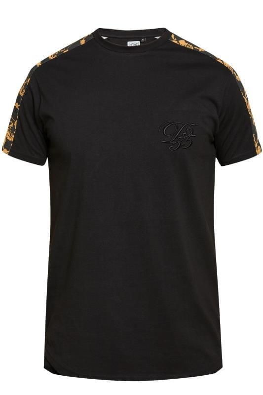T-Shirts D555 COUTURE Black Contrast Panel T-Shirt 201857