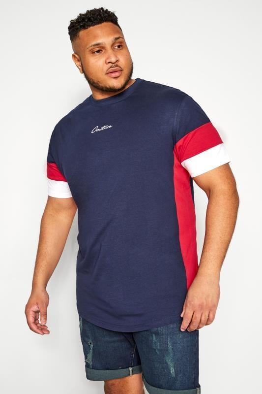 T-Shirts D555 COUTURE Navy Colour Block T-Shirt 202513