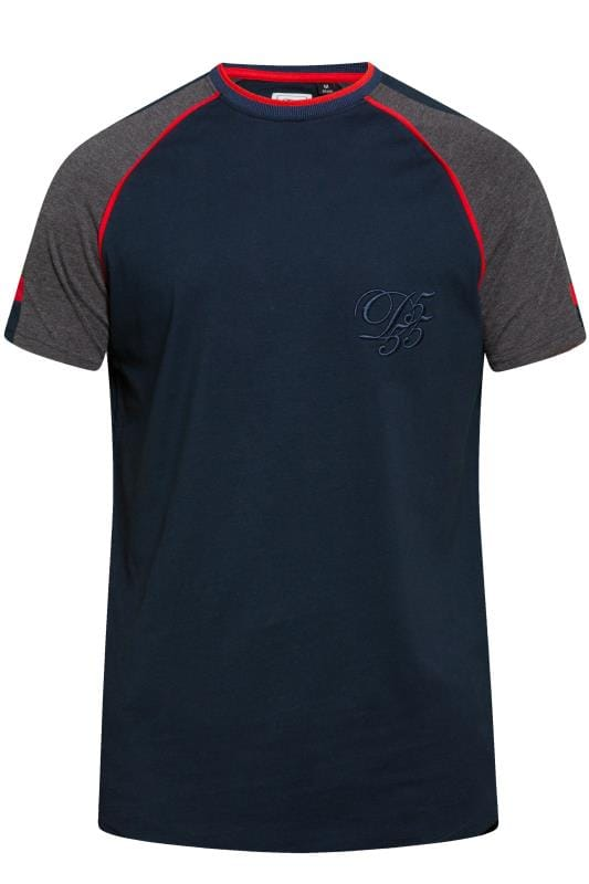 D555 COUTURE Navy Piping T-Shirt