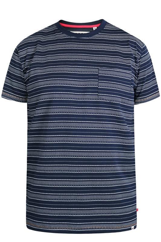 Beauty D555 Navy Striped Pocket T-Shirt 202512