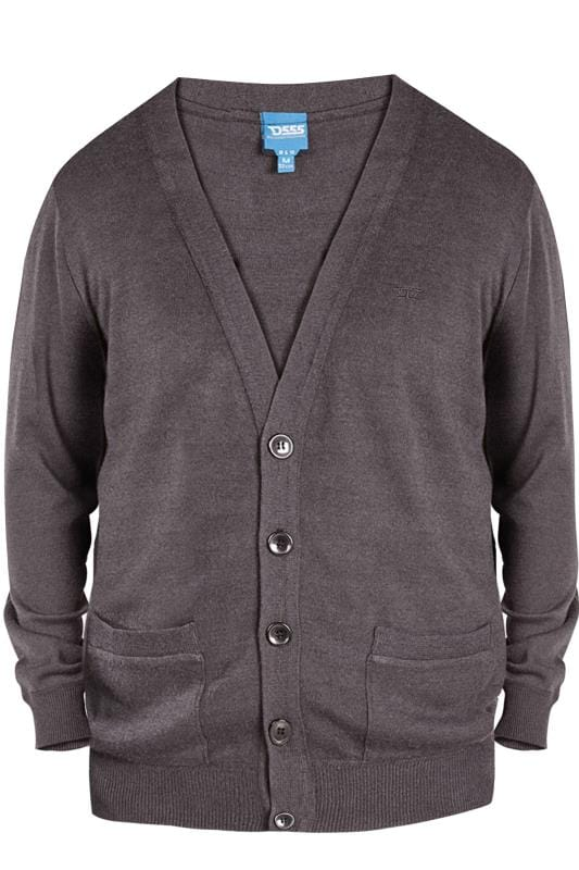 Cardigans D555 Charcoal Grey Button Cardigan 201894