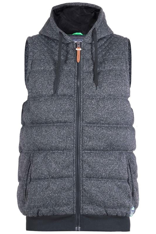 Gilets D555 Charcoal Grey Padded Gilet 201820