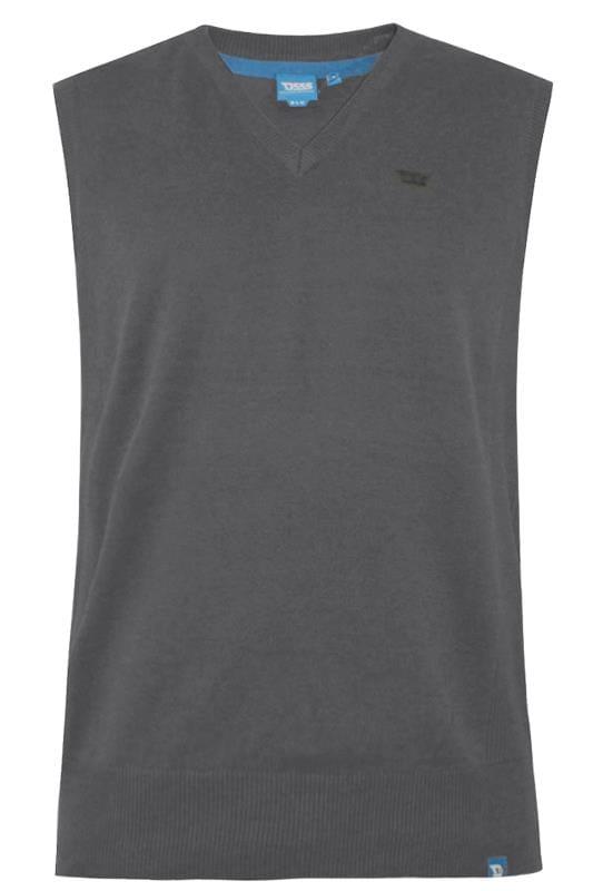 Большие размеры | Jumpers D555 Charcoal Grey Sleeveless Jumper