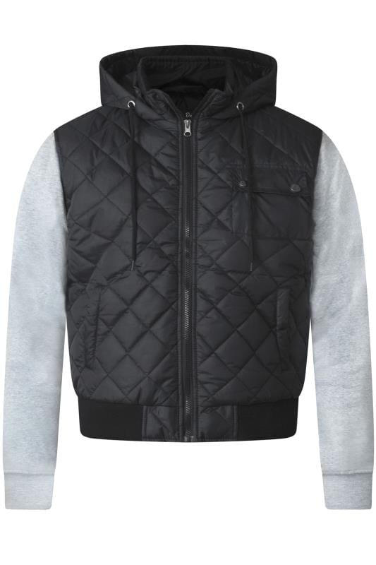 Plus Size Jackets D555 Charcoal Quilted Jacket