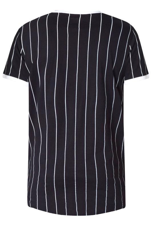 D555 Couture Black Striped T-Shirt