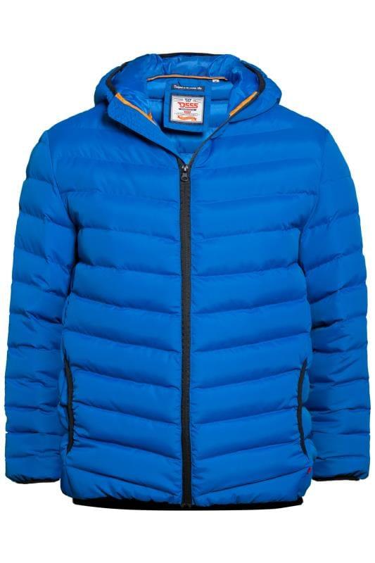 Jackets Grande Taille D555 Cobalt Blue Padded Jacket