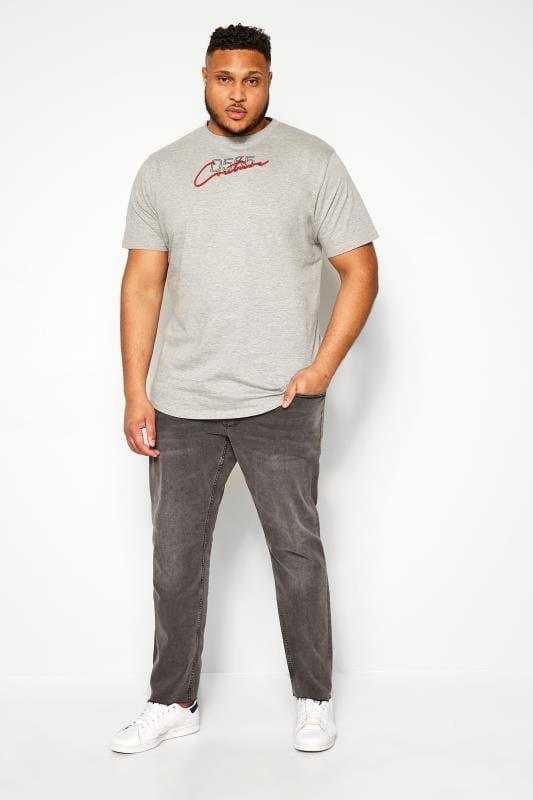 D555 Couture Grey Slogan T-Shirt