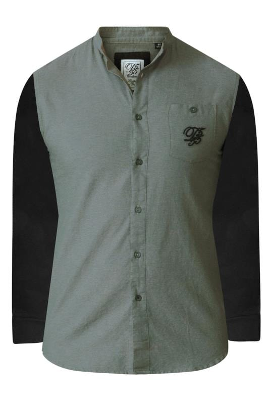 Smart Shirts D555 Couture Khaki Long Sleeve Grandad Shirt 201753