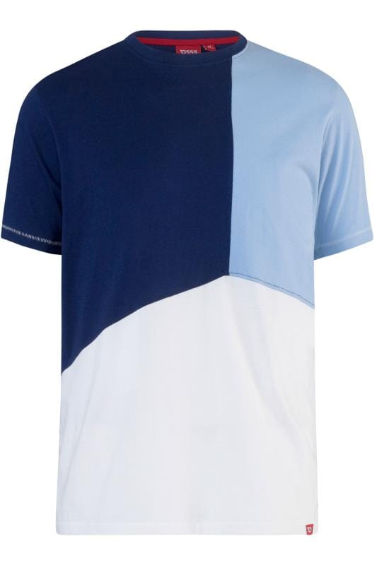 D555 Blue Block Colour T-Shirt