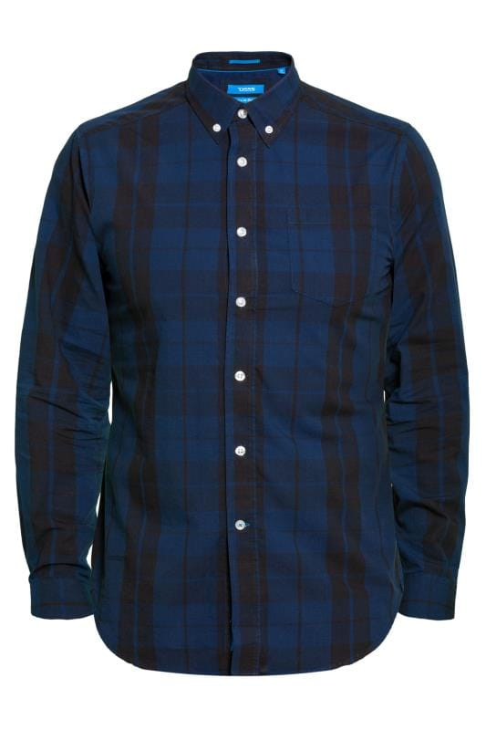 Casual Shirts D555 Navy Check Shirt 201741
