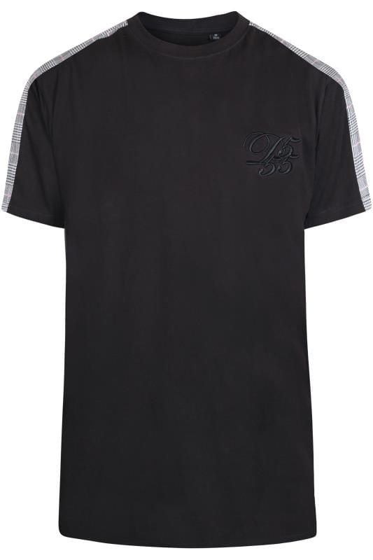 T-Shirts D555 Couture Black Taped T-Shirt 202547
