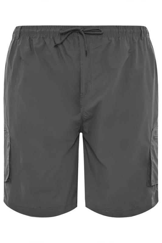 D555 Grey Cargo Shorts