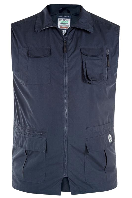 Gilets D555 Navy Pocket Gilet 201767