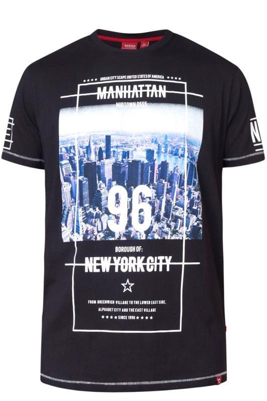 T-Shirts D555 Black NYC Graphic Print T-Shirt 202493