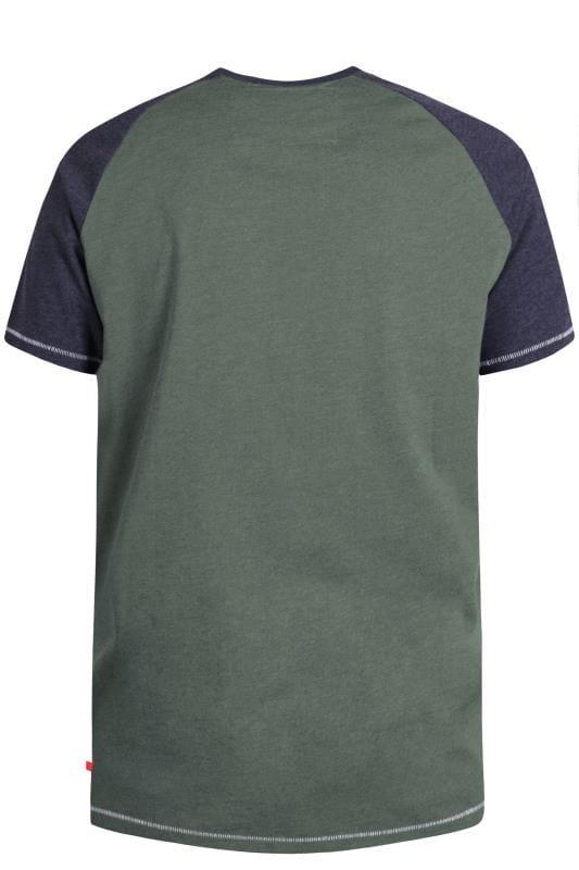 D555 Khaki Green Motorbike Graphic Print T-Shirt