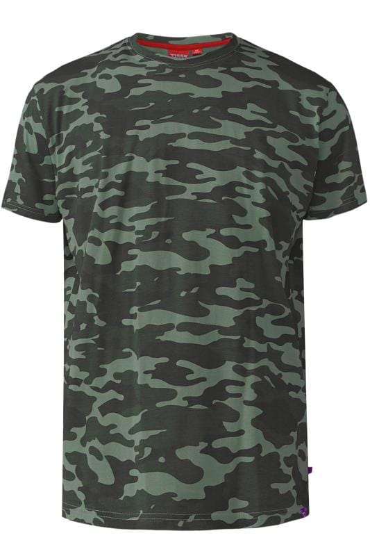 T-Shirts D555 Green Camouflage T-Shirt 202443