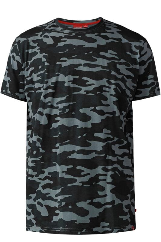 D555 Grey Camouflage T-Shirt