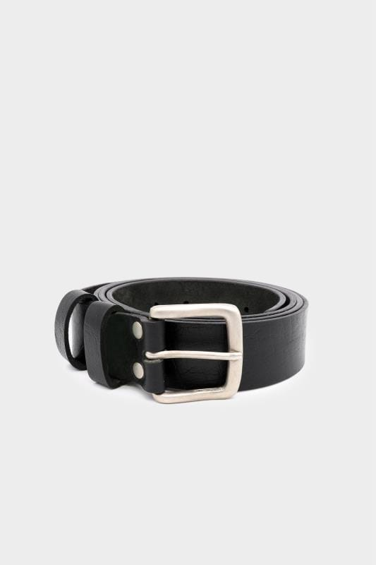 Belts D555 Black Leather Belt 201810