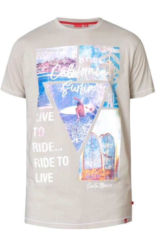 D555 Khaki California Graphic Print T-Shirt