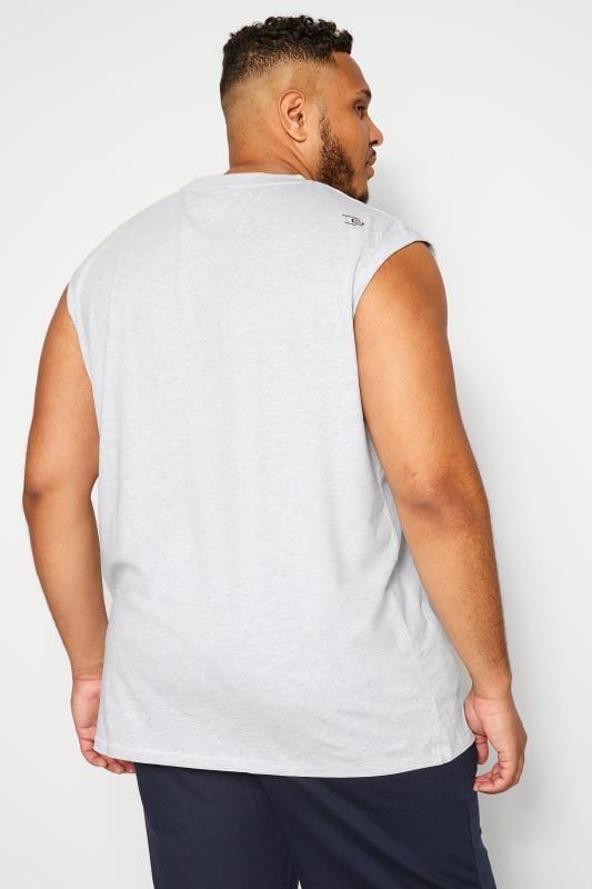 D555 Grey Marl 'California' Slogan Vest