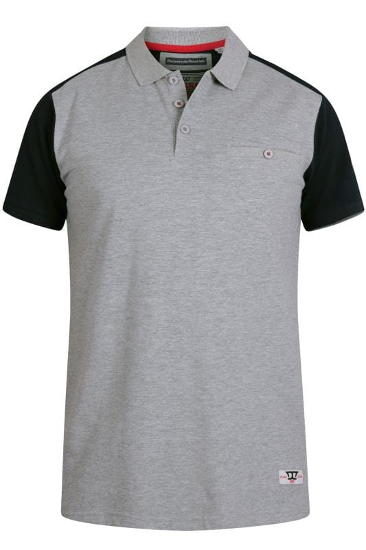 D555 Grey Marl Pique Polo Shirt