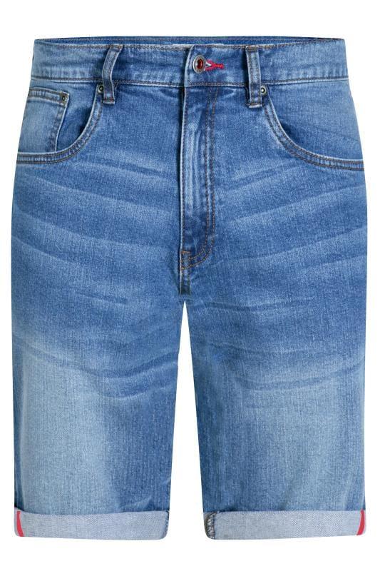 Men's Denim Shorts D555 Blue Stretch Denim Shorts